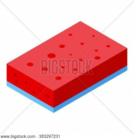Disinfection Sponge Icon. Isometric Of Disinfection Sponge Vector Icon For Web Design Isolated On Wh