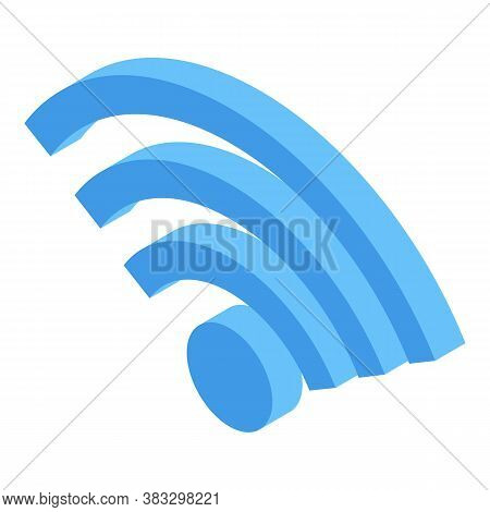 Digital Detoxing Wifi Icon. Isometric Of Digital Detoxing Wifi Vector Icon For Web Design Isolated O