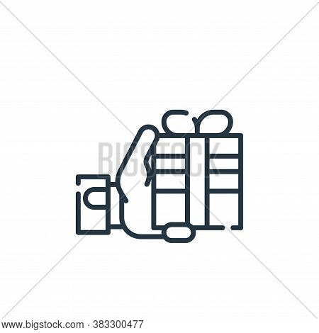 gift icon isolated on white background from friendship collection. gift icon trendy and modern gift