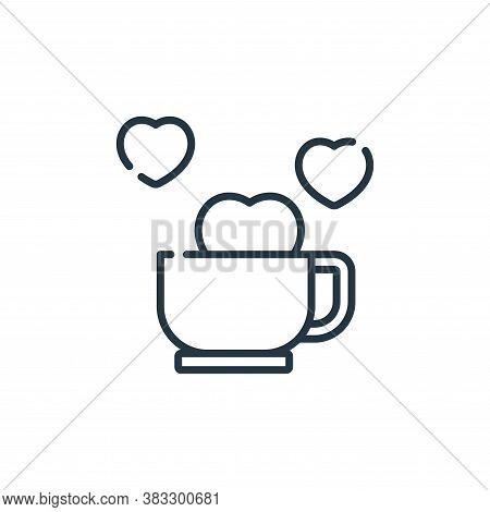 coffee time icon isolated on white background from friendship collection. coffee time icon trendy an