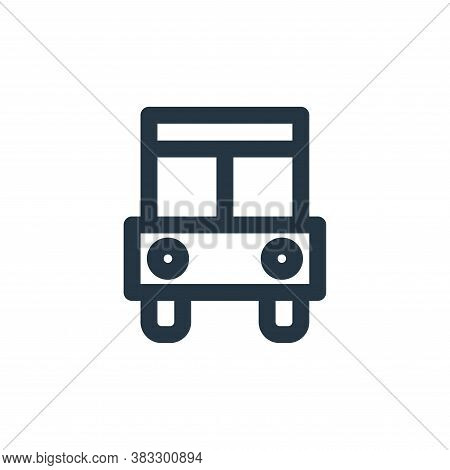 bus icon isolated on white background from sign symbol collection. bus icon trendy and modern bus sy