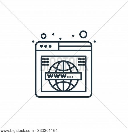 webpage icon isolated on white background from web hosting collection. webpage icon trendy and moder