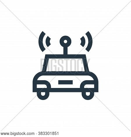 self driving icon isolated on white background from futuristic technology collection. self driving i