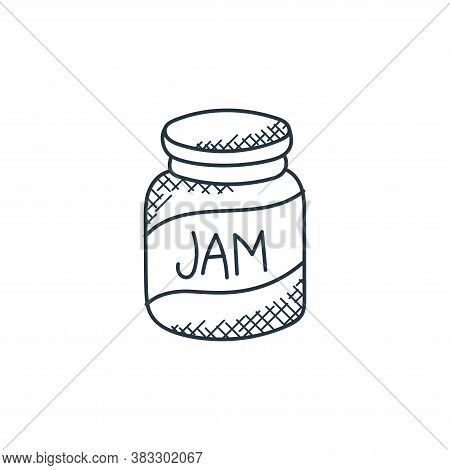jam icon isolated on white background from food collection. jam icon trendy and modern jam symbol fo