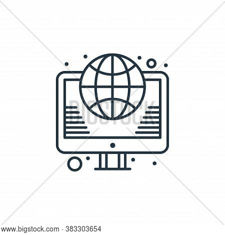 internet icon isolated on white background from web hosting collection. internet icon trendy and mod