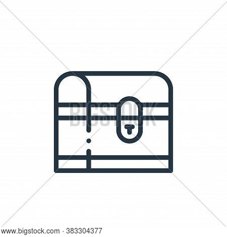 chest icon isolated on white background from magic collection. chest icon trendy and modern chest sy