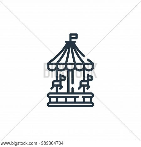 amusement park icon isolated on white background from public services collection. amusement park ico