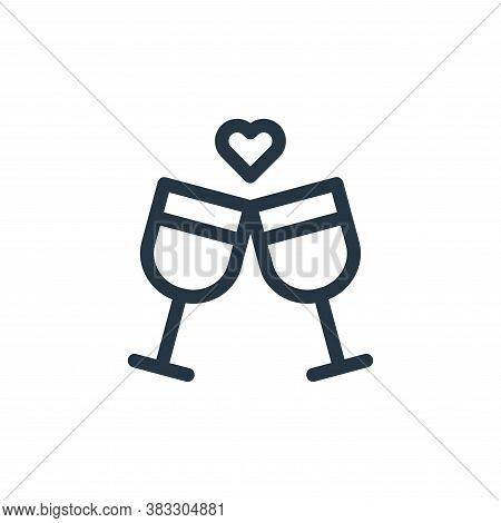 toast icon isolated on white background from valentines day collection. toast icon trendy and modern