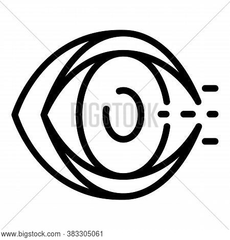 Blind Eye Man Icon. Outline Blind Eye Man Vector Icon For Web Design Isolated On White Background