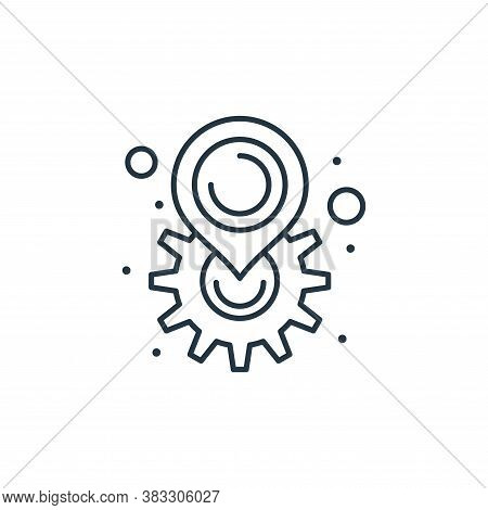 location icon isolated on white background from seo collection. location icon trendy and modern loca