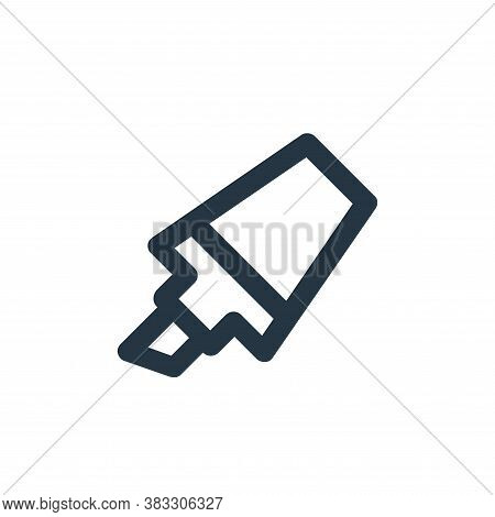 highlighter icon isolated on white background from business and management collection. highlighter i