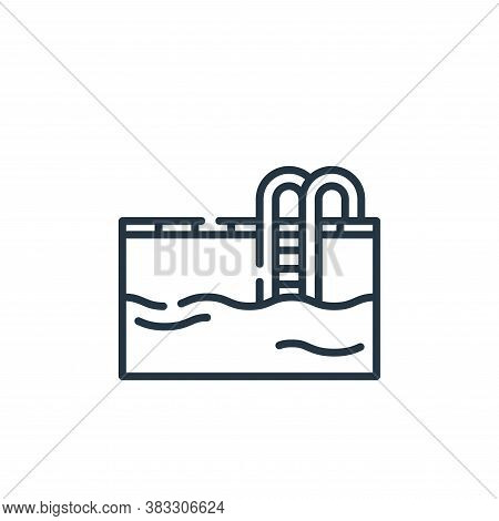 pool icon isolated on white background from public services collection. pool icon trendy and modern
