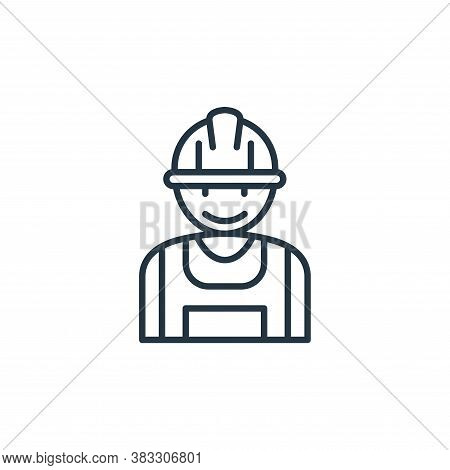 labor man icon isolated on white background from labour day collection. labor man icon trendy and mo