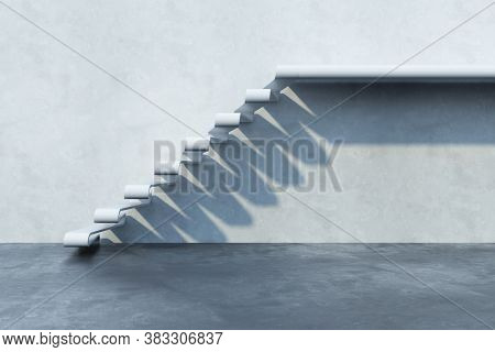 stairs leading upward, 3d rendering