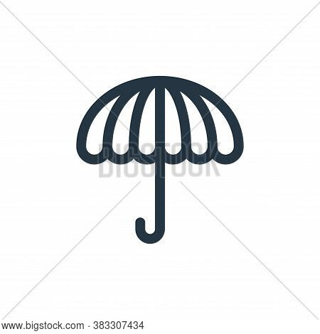 umbrella icon isolated on white background from baby shower collection. umbrella icon trendy and mod