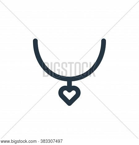 pendant icon isolated on white background from valentines day collection. pendant icon trendy and mo