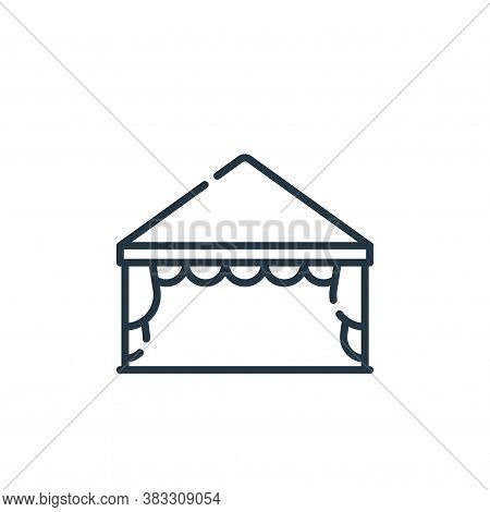 tent icon isolated on white background from event collection. tent icon trendy and modern tent symbo