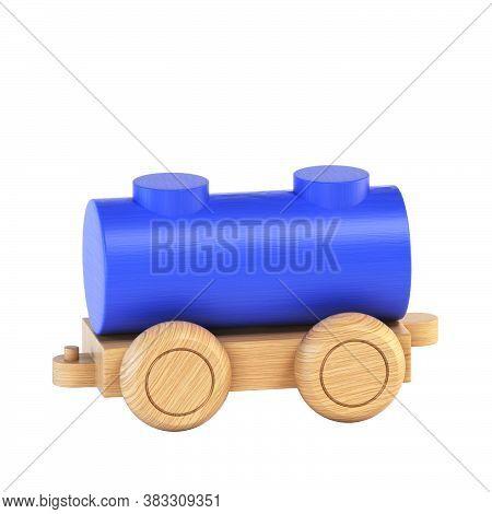 Railroad Car, Railcar, Wagon, Carriage 3d Rendering, Part Of Train Font Set