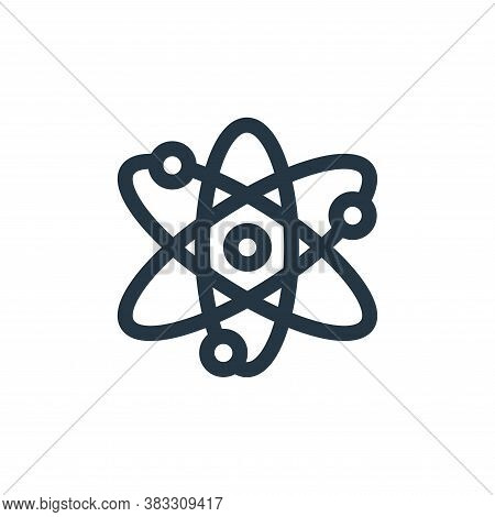 atom icon isolated on white background from nuclear energy collection. atom icon trendy and modern a