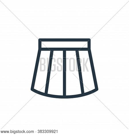 skirt icon isolated on white background from ecommerce line collection. skirt icon trendy and modern