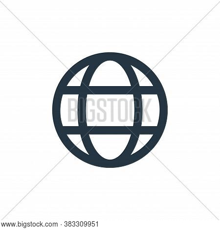 globe icon isolated on white background from business and management collection. globe icon trendy a