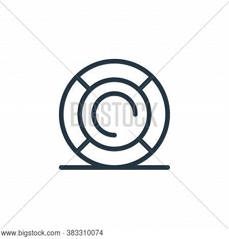 lifebuoy icon isolated on white background from water park collection. lifebuoy icon trendy and mode