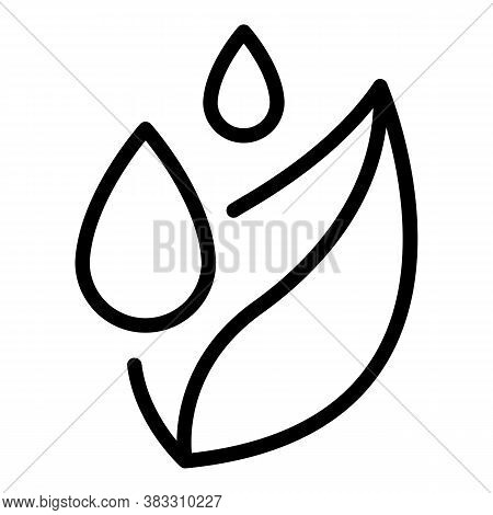 Leaf Drop Essential Oil Icon. Outline Leaf Drop Essential Oil Vector Icon For Web Design Isolated On