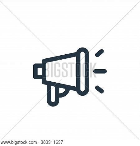megaphone icon isolated on white background from voting elections collection. megaphone icon trendy