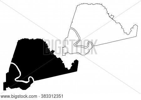 Ascension County, Louisiana (u.s. County, United States Of America, Usa, U.s., Us) Map Vector Illust