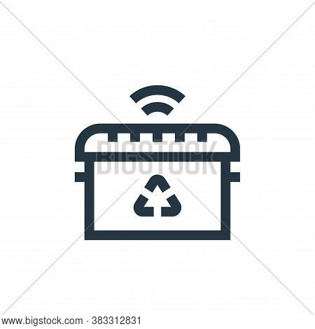 smart trash icon isolated on white background from futuristic technology collection. smart trash ico