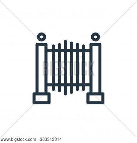 gate icon isolated on white background from water park collection. gate icon trendy and modern gate
