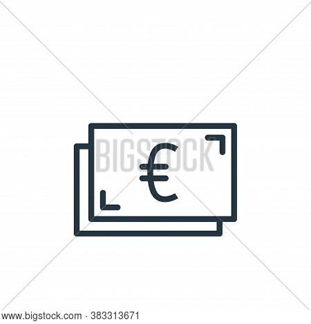 euro icon isolated on white background from busines and finace collection. euro icon trendy and mode