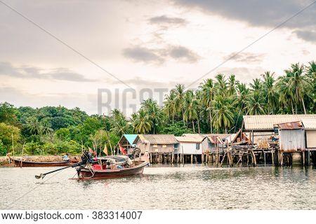 Muslim fishing village on Ko Yao Yai island in the Andaman Sea, Thailand