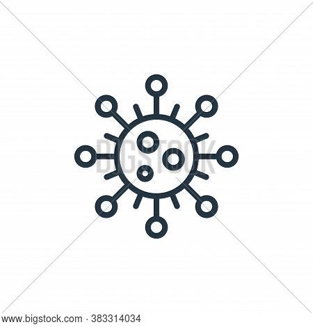 aids icon isolated on white background from microorganism collection. aids icon trendy and modern ai