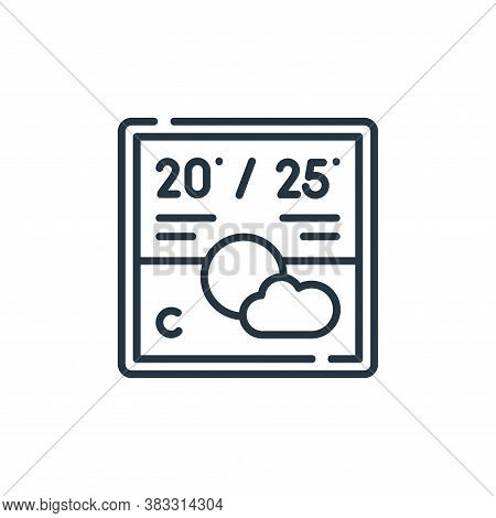 weather icon isolated on white background from smarthome collection. weather icon trendy and modern