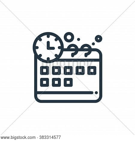 time management icon isolated on white background from management collection. time management icon t