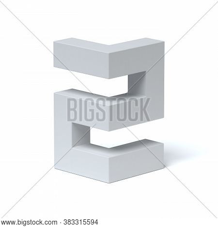 Isometric Font 3d Rendering Number 2, Three Dimensional Object