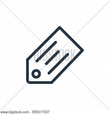 tag icon isolated on white background from ecommerce line collection. tag icon trendy and modern tag