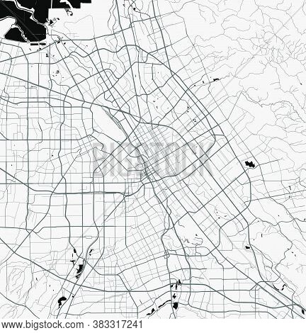 Urban City Map Of San Jose. Vector Illustration, San Jose Map Art Poster.