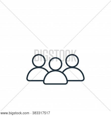 people icon isolated on white background from communication collection. people icon trendy and moder