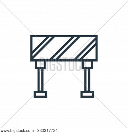 road block icon isolated on white background from labor day collection. road block icon trendy and m