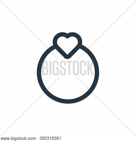 ring icon isolated on white background from valentine collection. ring icon trendy and modern ring s