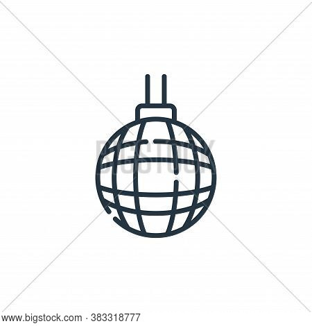 disco ball icon isolated on white background from event collection. disco ball icon trendy and moder
