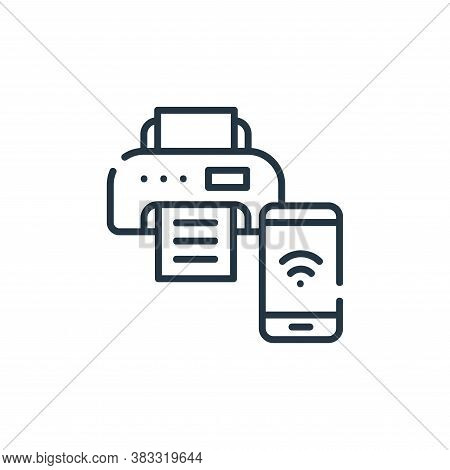 printer icon isolated on white background from smarthome collection. printer icon trendy and modern