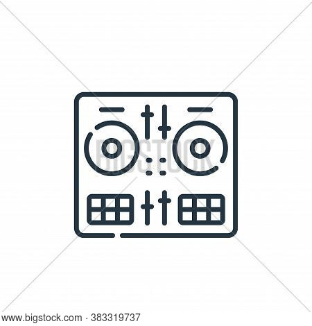 DJ icon isolated on white background from event collection. DJ icon trendy and modern DJ symbol for