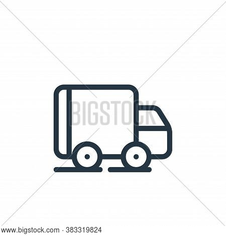 shipping icon isolated on white background from ecommerce line collection. shipping icon trendy and