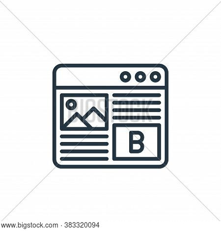 blog icon isolated on white background from social media collection. blog icon trendy and modern blo