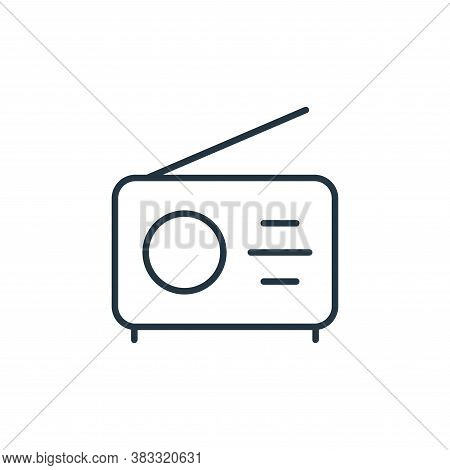 radio icon isolated on white background from communication collection. radio icon trendy and modern