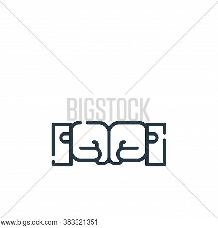 fist icon isolated on white background from friendship collection. fist icon trendy and modern fist
