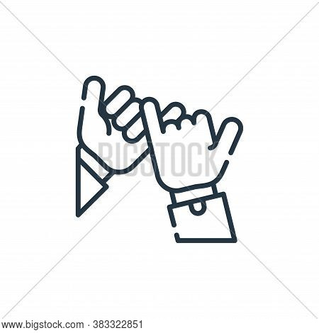 promise icon isolated on white background from friendship collection. promise icon trendy and modern